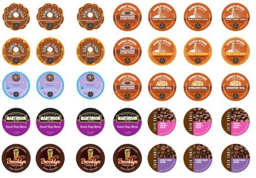 Crazy Cups Donut Sampler,  K-Cup Portion Pack for Keurig K-Cup Brewers (Pack of 35)
