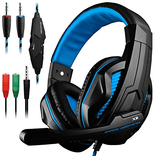 Gaming Headset for PS4 PC iPhone Smart Phone Laptop Tablet iPad iPod Mobilephones MP3 MP4,X1-S 4 Pin 3.5mm Jack Multi Function Game Headphones with Mic by AFUNTA