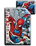 Spiderman 'Web Slinger' Reversible With Extra Large Pillow Case And Duvet Cover Single Panel Set