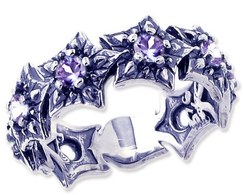 Sterling Silver Starlight-Starbright Stackable Gemstone Ring-Tanzanite-in full,half,quarter sizes from 5 to 9_5