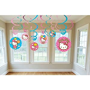Hello Kitty Swirl Decorations from AMSCAN *