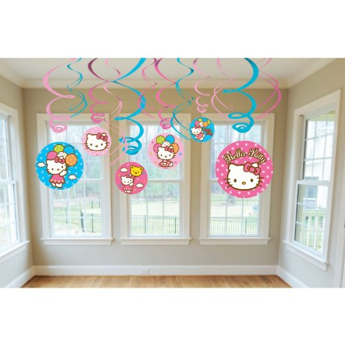 Amscan-Mens-Hello-Kitty-Balloon-Dreams-Hanging-Swirl-Value-Pack