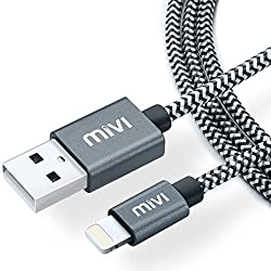 Mivi Nylon Lightning Cable for iPhone, iPad & iPod (Black)
