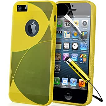 APPLE IPHONE 5S / 5 S Supergets Series Slim GEL zubehör / hülle / Cover / Case Includes Touch Screen Stylus + folie ScreenProtector and Polishing Cloth