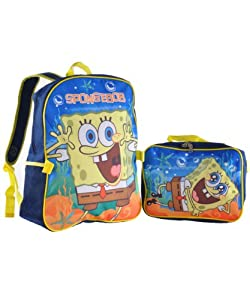 "Nickelodeon SpongeBob 15"" Backpack with Lunch Bag from Nickelodeon"