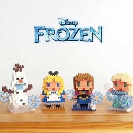 4 Box Disney Set - Elsa Anna Olaf Alice Nanoblocks Mini Figure Lego Toy