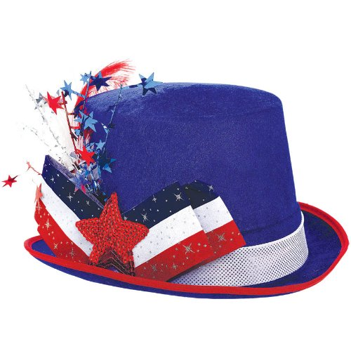 Patriotic Fancy Top Hat 1 Count