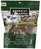 AMERICAN FARMS 481014 Natural Pig Ear Bagged for Pets, 5.76-Ounce