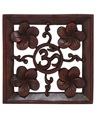 Om Hand Carved Wooden Wall Hanging