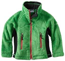 Columbia Little Girls\'  Pearl Plush Full Zip Jacket, Fuse Green/Black, 6/6X