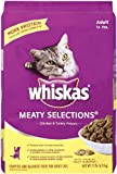 Whiskas Meaty Selections Dry Cat Food, 15-Pound