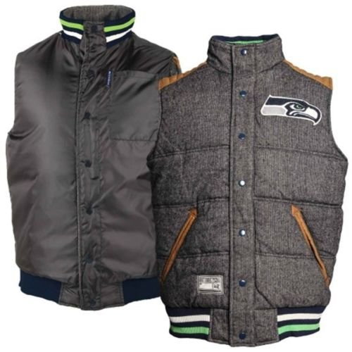 Seattle-Seahawks-Legacy-Button-Up-Reversible-Vest-NFL-Football-Team-Apparel