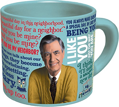 Mister Rogers Heat Changing Coffee Mug - Add Hot Liquid and Watch Mr. Roger's Sweater Change Color - Comes in a Fun Gift Box - by The Unemployed Philosophers Guild (Mister Rogers Coffee Mug compare prices)