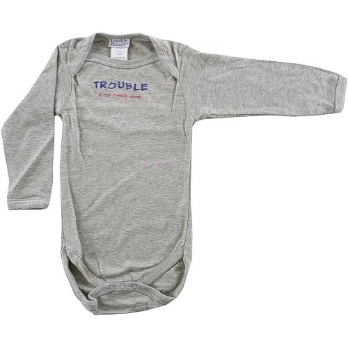 Baby-Says Long-Sleeve Bodysuit, Trouble is my middle name! - Buy Baby-Says Long-Sleeve Bodysuit, Trouble is my middle name! - Purchase Baby-Says Long-Sleeve Bodysuit, Trouble is my middle name! (Luvable Friends, Luvable Friends Apparel, Luvable Friends Toddler Boys Apparel, Apparel, Departments, Kids & Baby, Infants & Toddlers, Boys, One-Pieces & Rompers)