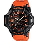 G-Shock GA-1000-4A Aviation Series Mens Luxury Watch - Brown/Orange / One Size