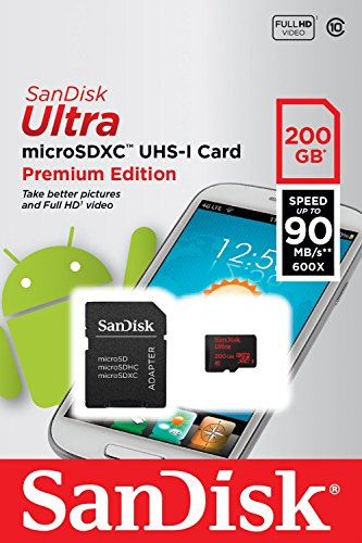 Professional Ultra SanDisk 200GB MicroSDXC Yarvik Xenta 13.3 card is custom formatted for high speed