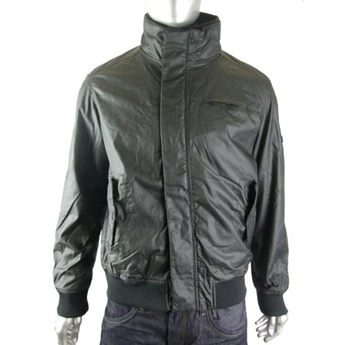 Mens Ben Sherman Wax Black Bomber Mod Jacket Coat 4XL
