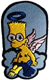 Bart Simpsons Aus Engel Patch '' 4,7 x 7,7 cm '' - Aufnher Aufbgler Applikation Applique Bgelbilder Flicken Embroidered Iron on Patches