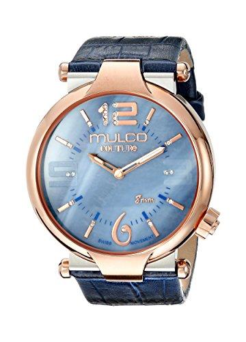 Mulco Mujer MW5-3183-043Couture Slim analógica Display Reloj de cuarzo azul suizo