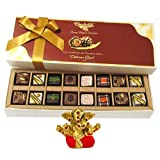 Chocholik Belgium Chocolates - 16pc Magical Treat Of Pralines Chocolate Box With Small Ganesha Idol - Diwali Gifts