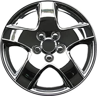 Drive Accessories Chrome ABS Plastic Wheel Cover Replica Hubcaps, (Set of 4)