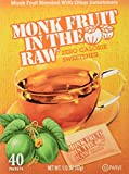 Monk Fruit in the Raw Sweeteners, 40 ct (2 pack)