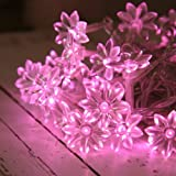 Indoor Sunflower Fairy Lights with 30 Pink LEDs by Lights4fun