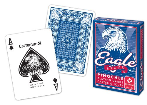 Cartamundi 1230 Eagle Brand Pinochle Playing Cards Assorted Colors