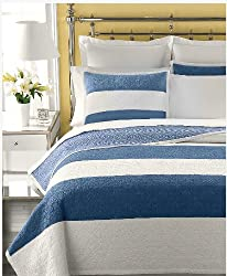 Martha Stewart Bandeau Stripe Standard Sham Blue