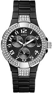 GUESS - U11622L4 - Analogique - Montre Femme - Bracelet en plastique noir