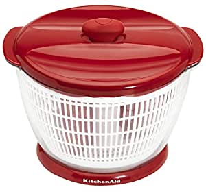 Amazon Com Kitchenaid Professional Salad Spinner Red