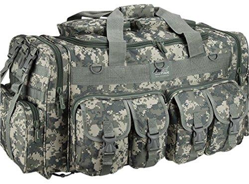 Mens 30 Inch ACU Digital Camo Convertible Backpack Duffel Duffle Molle Tactical Shoulder Bag (Acu Digital Bag compare prices)