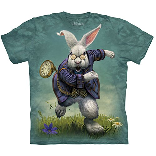 White Rabbit 'Alice in Wonderland' T-Shirt by The Mountain - Adult & Youth Sizes