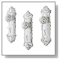Antique Door Knob Wall Hooks - Set of 3