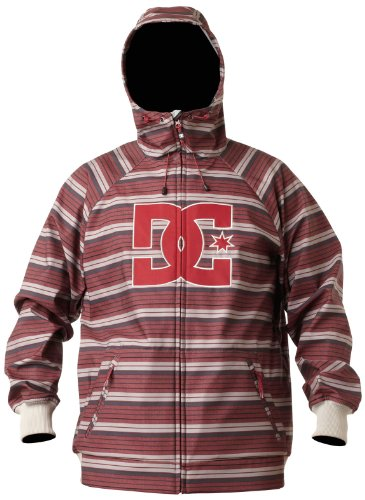 DC Men's Spectrum 13 Jacket, Black/Red Stripe, Medium