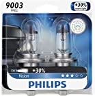 Philips 9003PRB2 Vision Headlight Bulb, (Pack of 2)