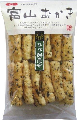 北越 富山おかき ひび餅昆布 12枚×8袋