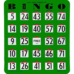 easy to read bingo cards