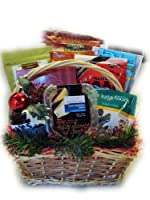 Deluxe Gluten Free Christmas Gift Basket by Well Baskets
