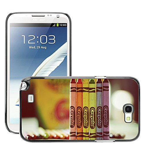 Premium Slim Polycarbonate Aluminium Cassa del telefono Custodia Case Bandiera Cover Armor // M00052189 crayola drawing colorful colour // Samsung Galaxy Note 2 N7100