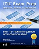 img - for ITIL V3 Exam Prep Questions, Answers, & Explanations: 800+ ITIL Foundation Questions with Detailed Solutions by Christopher Scordo (2009-11-06) Paperback book / textbook / text book
