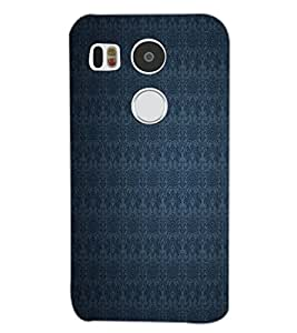 PrintDhaba BLUE PATTERN D-6352 Back Case Cover for LG NEXUS 5X (Multi-Coloured)