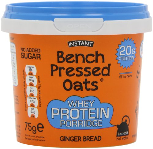 Bench Pressed Oats Ginger Bread Instant Whey Protein Porridge (Pack of 8)