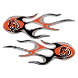Cincinnati Bengals NFL Micro Flames Auto Decal 2 Pack for Car Truck Motorcycle Bike Mailbox Locker Sticker Football Licensed Team Logo at Amazon.com