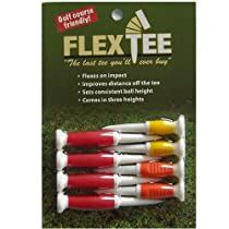 Flex Tee - Standard Colors - 8 Pack Golf Tees - 3 Different Heights