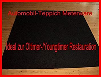 automobil teppich 2m x 2m schwarz universal velour. Black Bedroom Furniture Sets. Home Design Ideas