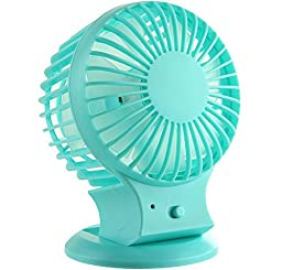 Generic USB Rechargeable Desk Fan Blue