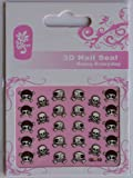 GGSELL GGSELL GL Stereoscopic 3D nail art nail decals nail stickers black and white skull