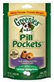 Greenies Pill Pockets Tablet, Duck and Pea Flavor, 2.6-Ounce, 25 Count