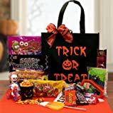 Tricks and Treats Fun Candy Filled Hallween Tote Bag